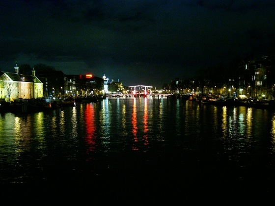 Amsterdam - Canale Amstel by night - di 19Simone80