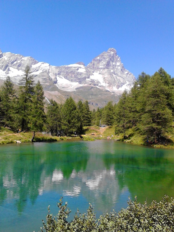 Cervinia - lago blu - di pilliamo