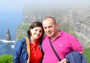 Ugo e Chiara alle Cliff's of Moher - dingle