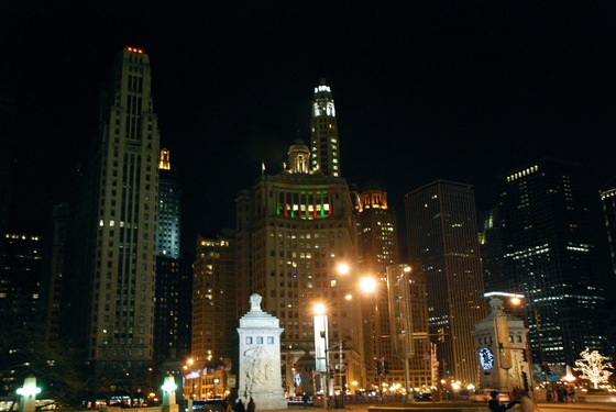 Illinois - Chicago by Night - di vhoe