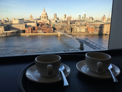 Coffee with a view alla Tate Modern