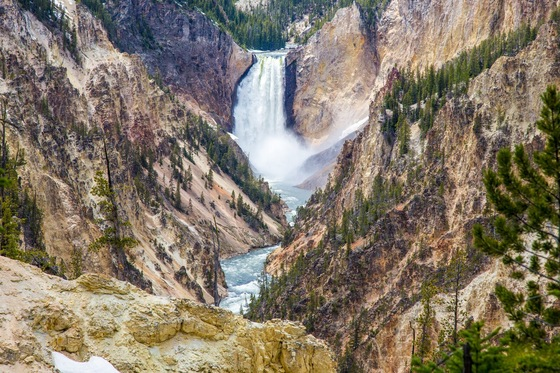 Parco Nazionale di Yellowstone - Lower Falls - Grand Canyon of Yellowstone - di balzax