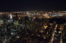 Vista dall'empire state building by night - Stati Uniti d'America