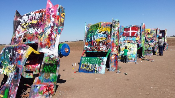 Texas - Cadillac Ranch  - di supercioppi