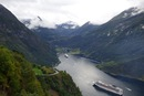 Geiranger vista dall'Ørnesvingen - Viaggio on the road